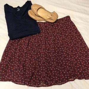 Old Navy | lined floral skirt